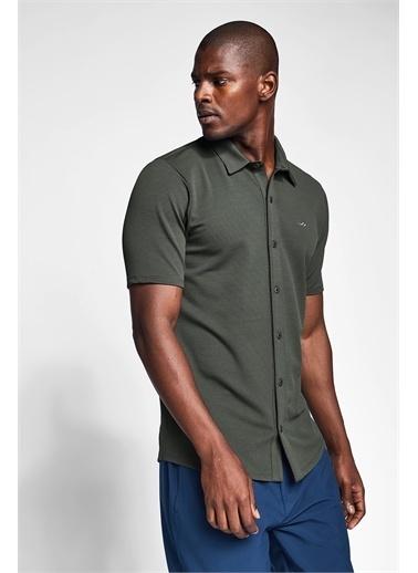 Lescon Haki Erkek Kısa Kollu Gömlek 21S-1207-21N Yeşil